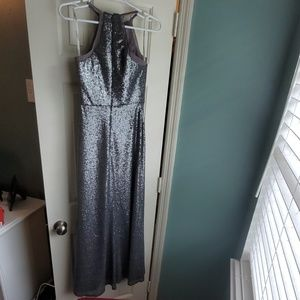 Bari Jay sequin bridesmaid dress